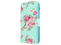 Flower Bookcase - Samsung Galaxy J1 2016 hoesje