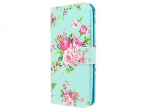 Flower Bookcase - Samsung Galaxy J3 2016 hoesje