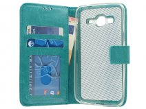 Bookcase Turquoise - Samsung Galaxy J3 2016 hoesje