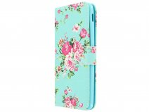 Flower Bookcase - Samsung Galaxy J3 2017 hoesje