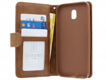 Zipper Book Case Bruin - Samsung Galaxy J3 2017 hoesje