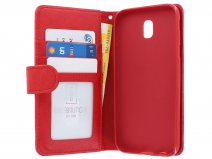 Zipper Book Case Rood - Samsung Galaxy J3 2017 hoesje