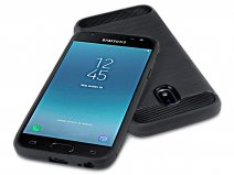 Rugged Carbon TPU Case - Samsung Galaxy J3 2017 hoesje