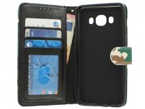 Camouflage Bookcase - Samsung Galaxy J5 2016 hoesje