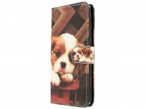 Puppy Dog Bookcase - Samsung Galaxy J5 2016 hoesje