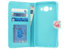 Flower Bookcase - Samsung Galaxy J5 2016 hoesje