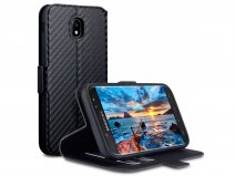 Covert Carbon Bookcase - Samsung Galaxy J5 2017 hoesje