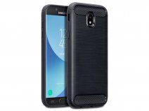 Rugged Carbon TPU Case - Samsung Galaxy J5 2017 hoesje