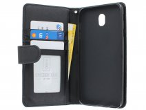 Zipper Book Case Zwart - Samsung Galaxy J7 2017 hoesje