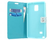 Retro Paris Wallet Case - Samsung Galaxy Note 4 hoesje