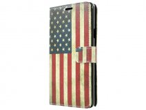 Vintage USA Flag Book Case Hoesje voor Samsung Galaxy Note 4