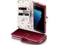 CaseBoutique Flower Bookcase - Samsung Galaxy Note 7 hoesje