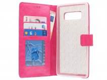 Bookcase Wallet Roze - Samsung Galaxy Note 8 hoesje