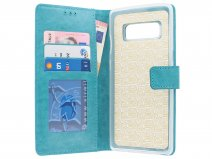 Bookcase Wallet Turquois - Samsung Galaxy Note 8 hoesje