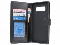 Bookcase Wallet Zwart - Samsung Galaxy Note 8 hoesje