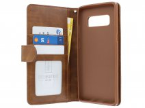 Zipper Book Case Bruin - Samsung Galaxy Note 8 hoesje