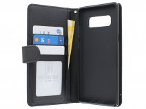 Zipper Book Case Zwart - Samsung Galaxy Note 8 hoesje