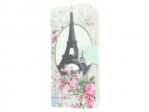 Retro Paris Book Case Hoesje voor Samsung Galaxy S6 Edge