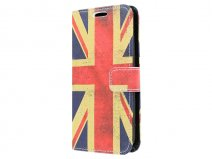 Vintage GB Flag Book Case Hoesje voor Samsung Galaxy S6 Edge