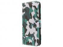 Camouflage Army Bookcase - Samsung Galaxy S7 hoesje