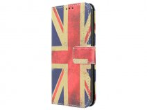 Vintage GB Flag Bookcase - Samsung Galaxy S7 hoesje