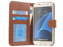 Wallet Book Case - Samsung Galaxy S7 hoesje (Bruin)