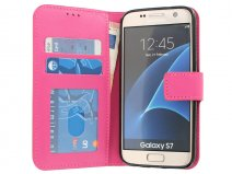 Wallet Book Case - Samsung Galaxy S7 hoesje (Fuchsia)