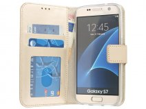 Wallet Book Case - Samsung Galaxy S7 hoesje (Goud)