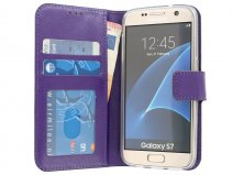 Wallet Book Case - Samsung Galaxy S7 hoesje (Paars)
