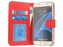 Wallet Book Case - Samsung Galaxy S7 hoesje (Rood)