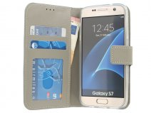 Wallet Book Case - Samsung Galaxy S7 hoesje (Taupe)