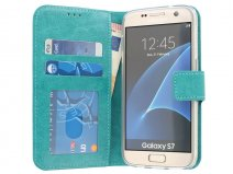 Wallet Book Case - Samsung Galaxy S7 hoesje (Turquoise)