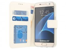 Wallet Book Case - Samsung Galaxy S7 hoesje (Wit)