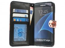 Puppy Dog Bookcase - Samsung Galaxy S7 Edge hoesje