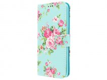 Flower Book Case - Samsung Galaxy S7 Edge hoesje