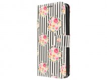 Striped Flower Case - Samsung Galaxy S7 Edge hoesje