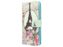 Retro Paris Book Case - Samsung Galaxy S7 Edge hoesje