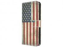 Vintage USA Book Case - Samsung Galaxy S7 Edge hoesje