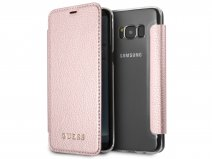Guess Iridescent Bookcase Ros� - Galaxy S8 hoesje