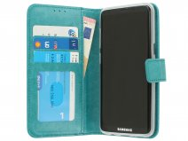 Bookcase Turquoise - Samsung Galaxy S8 hoesje