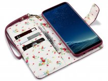CaseBoutique Flower Bookcase - Samsung Galaxy S8+ hoesje