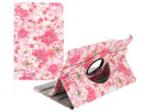 Floral Stand Case - Samsung Galaxy Tab E 9.6 Hoesje