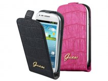 Guess Matte Croco Flip Case voor Samsung Galaxy S3 Mini