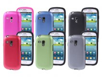 Metal Silicon Dual Protection Case voor Samsung Galaxy S3 Mini