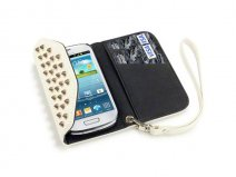 Covert Studded Trifold Wallet Case - Samsung Galaxy S3 Mini hoesje