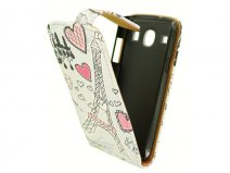 Paris Flip Case - Samsung Galaxy Core i8260 Hoesje