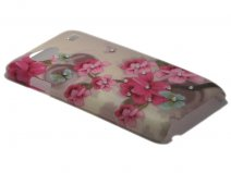 Crystals ''Romantic'' Case Samsung Galaxy S Advance (i9070)