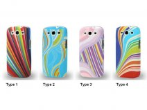 Colorful Waves Hard Case Hoesje voor Samsung Galaxy S3 (i9300)