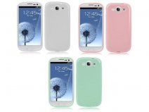 Pastel Colors TPU Case Hoes voor Samsung Galaxy S3 (i9300)