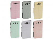 Pastels Sideflip Stand Case voor Samsung Galaxy S3 (i9300)